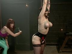 Crazy fetish, lesbian xxx scene with exotic pornstar Maitresse Madeline Marlowe from Whippedass