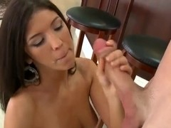 Brittany Harper enjoys fucking with a hard dick and sucking it