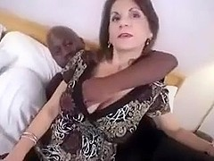 Talkative MILF interracial anal.