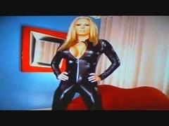 Mastix Ashley in catsuit