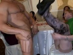 Racy striptease party