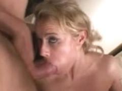 Italian MILF with huge boobs in a nasty gangbang