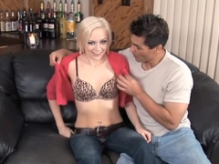 Shy blonde Madison becomes a sexual beast at the hands of a hung stud