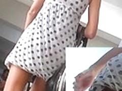Wonderful round ass cheeks up petticoat