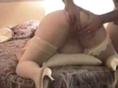 pregnant slut gets her turd tunnel drilled