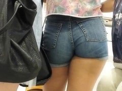 VERY SEXY BLUE SHORT SHORTS