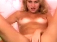 Blonde SexyBoginya fucks her pussy