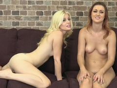 Exotic pornstars Charlotte Stokely, Karlie Montana in Horny Small Tits, Lesbian porn movie