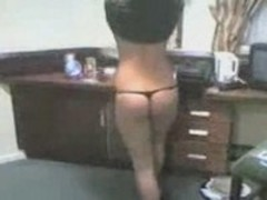 My hot GF dances for me at the hotel