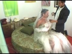 Bride tranny fucks man ass