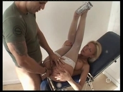 Blonde nurse anal fucked in a French hospital by doctor