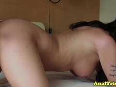 Exgf loves fingers in her tight butthole