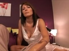 Hot Step Mother Rewards Him