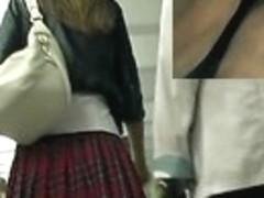 The captivating school cutie up petticoat