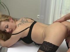 Best pornstars Steve, Iva Zan in Fabulous MILF, Stockings adult clip