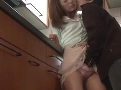 Exotic Japanese girl Ren Serizawa in Horny couple, cunnilingus JAV clip