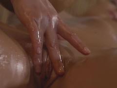 Crazy pornstars Lucy Li, Angella in Amazing Massage, College sex movie