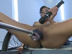 Exotic fetish sex clip with amazing pornstar Beretta James from Fuckingmachines
