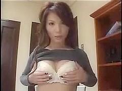 Asian girl gives boyfriend head