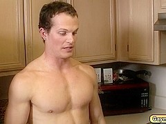 Sexy Gay Couple Decided to Have a Sizzling Blowjobs and Anal Stuffing for Lunch