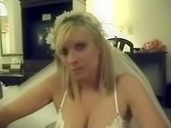 Hawt wedding day bride drilled in hotel room