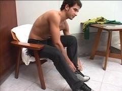 Hot brunette TS ass fucked