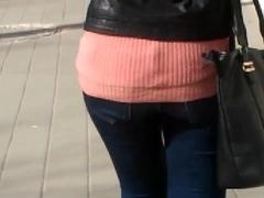 college girl asses street slow mo bg