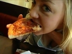 German - My everyday life Pizza and cum