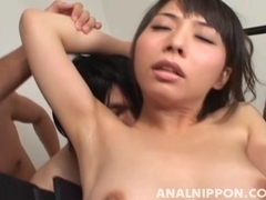 Yuka Osawa Amazing Asian model has a hot gangbanging time