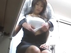 Asian slut gets fucked by her doctor in the office