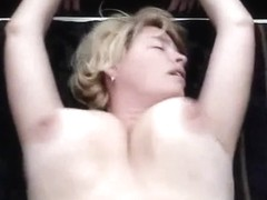 Homemade porn footage with a busty mature lady achieving orgasm