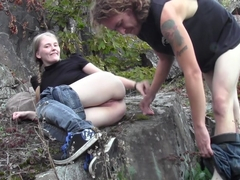 Evelina Juliet in amateur video of teens fucked hard filmed in forest