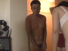 Mature Japanese AV models enjoying a stiff cock
