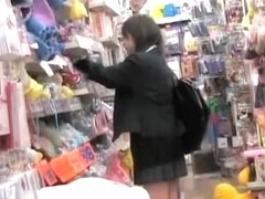 Asian babes shamelessly fingered during upskirting.