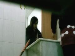 Voyur spy cam studious Asian chick pissing dark pussy porno