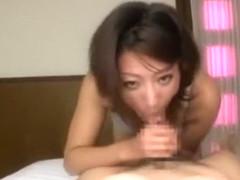 Crazy Japanese whore Reiko Kagami in Horny Blowjob/Fera, POV JAV video