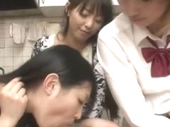Horny Japanese model in Crazy Group Sex, POV JAV clip