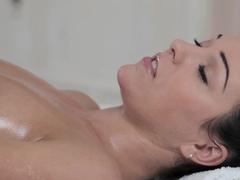 Fabulous pornstars Veronica Vanoza, Natalia Forrest in Hottest Massage, Fingering sex scene