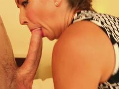 Fat ass ponytail brunette babe Sabien Rose takes a big cock