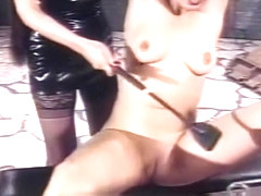 Beautiful slave girl experiences a whole new level of pain
