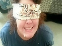 Blindfolded Cum in Mouth