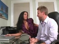 Busty Branda Fox surprises Levi Cash