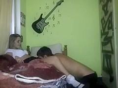 Homemade sex tape girl couple