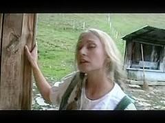 Two beautiful German girls Fucking in a barn