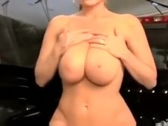 Hot busty screwed in the back of pickup truck