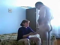 girl sucks cock for the first time and doesn't seem to like it