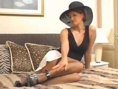 Mature in Hat Stockings