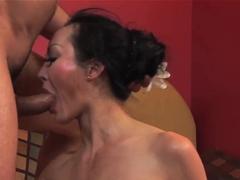 Asian milf Ange Venus gets her ass fucked hard
