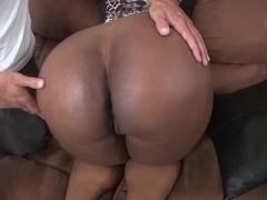 Chocolate hottie Layla Monroe getting nailed