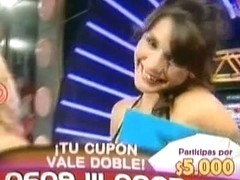Slutty hot dancers flash upskirt on tv